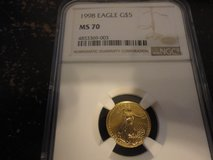 1998 $5 eagle gold NGC graded ms70 coin in Fort Campbell, Kentucky