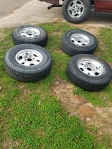 "Four 16"" rims with tires in Conroe, Texas"