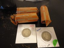 3 rolls barber quarters total 122 each quarters in Fort Campbell, Kentucky