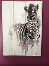 "Zebra painting (22"" x 16"") in Joliet, Illinois"
