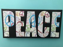 "Peace on canvas 16"" x 8"" in Joliet, Illinois"