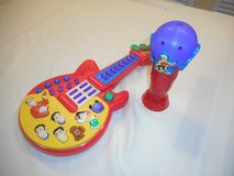 Wiggles guitar and microphone in Joliet, Illinois