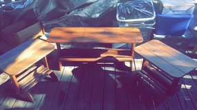 WOOD COFFEE TABLE & 2 MATCHING END TABLES in Leesville, Louisiana