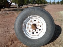 "wheel and tire 16"" 8 lug goodyear marathon 235 80r16 in Alamogordo, New Mexico"