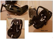 Maxi-Cosi 3-part car seat and base set in Alconbury, UK