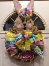 Easter Bunny Burlap Wreath in Naperville, Illinois