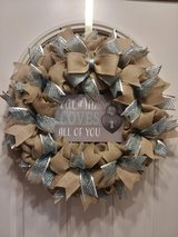 All Of Me Loves All Of You Burlap Wreath in Naperville, Illinois