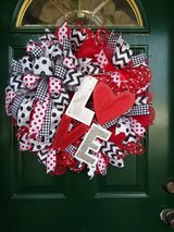 LOVE Valentine's Day Mesh Wreath in Naperville, Illinois