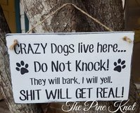 hand painted wood sign DO NOT KNOCK in DeRidder, Louisiana