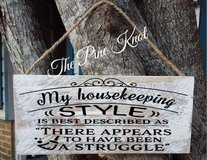 hand painted wood sign MY HOUSEKEEPING STYLE in DeRidder, Louisiana