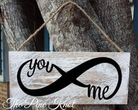 hand painted wood sign YOU ME INFINITY in DeRidder, Louisiana