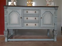 Vintage Shabby Chic Oak Sideboard Hand Painted in Ramstein, Germany