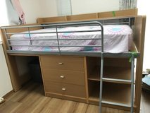 Loft Bed with desk (no chair and no mattress) in Okinawa, Japan