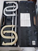 Spalding Horseshoes Set Model #14732 in Hard Case Set of 4 Shoes w/ 2 Stakes in Okinawa, Japan