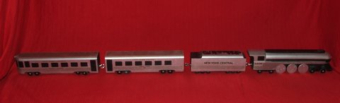 Empire State Express Wooden Train Set O Scale Hand Crafted in Batavia, Illinois