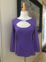 Women's NWT Purple Buckle Sweater - Sz Med in Bolingbrook, Illinois