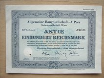 1925 German Stock Certificate (Allba-Nordstern Lebensversicherungs) in Wiesbaden, GE