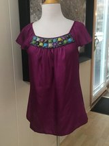 Women's NWOT Embellished Blouse - Sz Med in Plainfield, Illinois