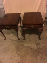 Solid cherry ?? matching coffee and end tables in Fort Campbell, Kentucky