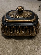 Black and gold decor box in The Woodlands, Texas