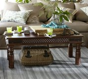 Pottery Barn Carved Rosewood Coffee Table in Ottawa, Illinois