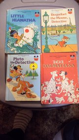 Walt Disney Books (4) - 'Roquefort', 'Little Hiawatha', '101 Dalmatians', 'Pluto Detective' in Alamogordo, New Mexico