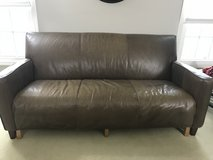 Brown leather couch in Naperville, Illinois