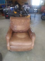 Light caramel leather chair in Fort Leonard Wood, Missouri