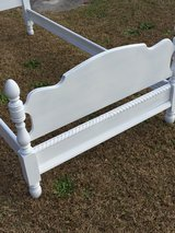 antique maple chalk painted twin bed in Cherry Point, North Carolina
