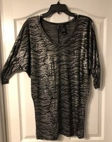 Black and Gray animal print top size Small in Fort Benning, Georgia