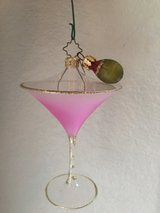 Christopher Radko hand-blown glass Martini Ornament - Shaken Not Stirred in Fort Hood, Texas