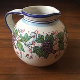 Italian Hand-painted Pitcher in Fort Hood, Texas