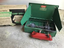 Vintage Coleman 425E camp stove with original box in Joliet, Illinois