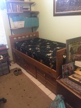 Twin captains bed with mattress in Alamogordo, New Mexico