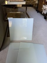 """14"""" (6 pieces) square WHITE tempered glass shelves, sheets, wedding centerpiece tray etc... NEW in Kingwood, Texas"""