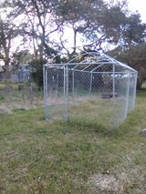 Outdoor dog kennel in Fort Polk, Louisiana