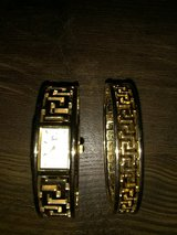 Woman's Gold Colored Sachi Bracelet Watch Set in Warner Robins, Georgia