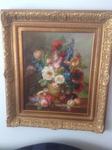 Floral picture with Gold Ornate Frame in Glendale Heights, Illinois