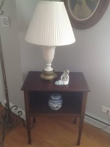 Side Table with Lamp in Chicago, Illinois