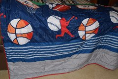 Sports bedspread in Byron, Georgia