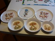 VINTAGE  MELMAC CHILDREN'S HOLLY HOBBIE  DISHES in Bolingbrook, Illinois