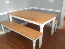 Kitchen Table and Benches in Chicago, Illinois