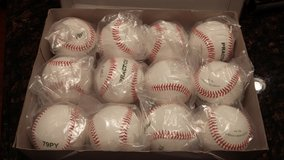 Baseballs, one dozen new in Elgin, Illinois