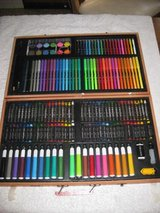 176 Piece Art Set Colored Pencils Crayons Case Drawing Supplies Artist Tools Kit in Okinawa, Japan