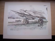 Lithograph, R.C.A.F. 404th Squadron in Wiesbaden, GE