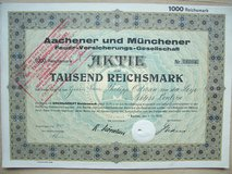 1930 German Stock Certificate in Wiesbaden, GE