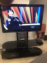 Flat Panel TV Stand with Mount and 2 Glass Shelves in Joliet, Illinois