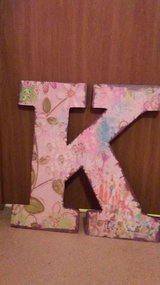 Floral letter K wall decor in Plainfield, Illinois