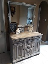 Rustic Grey Cabinet in Baytown, Texas