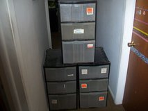 3 Large plastic see through 3 drawer cabinets. in Bartlett, Illinois